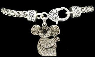 From the Heart Clear Crystal Sparkling Rhinestone Koala Bear Charm on Heavy Bracelet with Heart Lobster Claw Closure.Celebrate the Precious Endangered Species & Your Fascination with this Interesting AnimalIt SparklesPerfect gift for any Koala Be