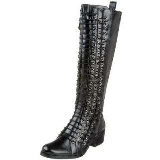 Pour La Victoire Women's Kerry Lace up Knee High Boot, Black, 5 M US Shoes