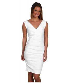 Nicole Miller Andrea Stretch Linen Dress Womens Dress (White)