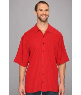 Tommy Bahama Big & Tall Big Tall Catalina Twill Camp Shirt Mens Short Sleeve Button Up (Red)