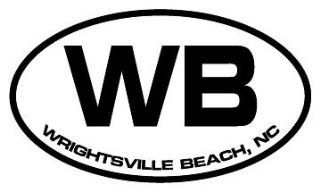 "4"" Wrightsville Beach NC euro oval style printed vinyl decal sticker for any smooth surface such as windows bumpers laptops or any smooth surface."