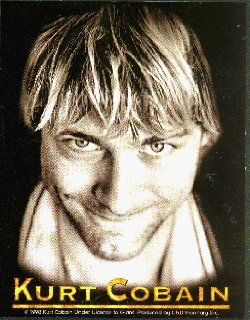 Nirvana   Kurt Cobain (Head shot, Logo Below)   Sticker / Decal Automotive