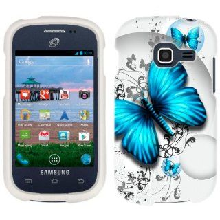 Samsung Galaxy Centura Blue Butterfly Phone Case Cover Cell Phones & Accessories