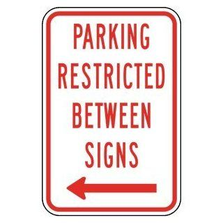 Parking Restricted Between Signs Sign PKE 22620 Parking Reserved  Business And Store Signs