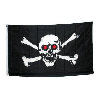 Jolly Roger With Red Eyes Pirate Flag Toys & Games