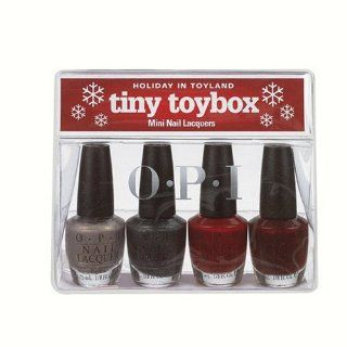 Opi Tiny Toybox Contains 4 Mini Polishes, Glamour Gamer, Little Red Wagon, And Don't Toy With Me And Brand New Skates, .125 Ounce Polishes  Nail Polish  Beauty