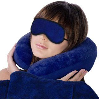 Soft and comfort Travel Set   Contains 1 pillow, 1 blanket and 1 eye mask   Travel Accessories