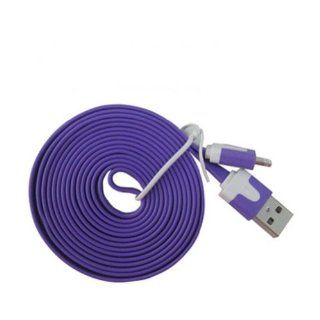 Ayangyang Flat USB Data Sync Charger Cable for Apple Iphone 5 5g Ipad Mini Ipod Touch 5 Nano USB Date Cable for Iphone 5 8 Pin Flat Sync Cable for Iphone 5 Universal USB Charger Syna Calbe for Iphone 5 Ipad 4 Ipad Mini Purple 2 Meter Long Packet of 2 Elec