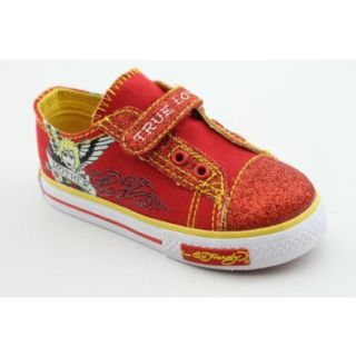 Ed Hardy Flicker Infant Baby Girls Size 10 Red Canvas Athletic Sneakers Shoes Shoes