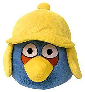 "Blue Bird (Yellow Hat) ~6"" Angry Birds Winter Hat Mini Plush Series (No Sound) Toys & Games"