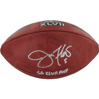 NFL Baltimore Ravens Joe Flacco Signed Super Bowl XLVII Football  Sports Related Collectible Footballs  Sports & Outdoors