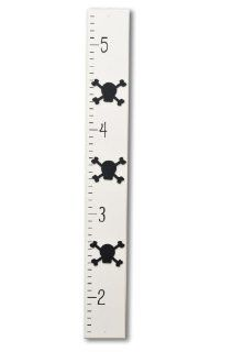 Homeworks Etc Pirate Skull and Bones Growth Chart, Ivory/Black  Nursery Wall Decor  Baby