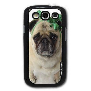 Pug Dog Celebrating St. Patricks Day   Protective Designer BLACK Case   Fits Samsung Galaxy S3 SIII i9300 Cell Phones & Accessories