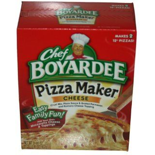 Chef Boyardee, Cheese Pizza Kit, Makes 2 Pizzas, 31.85oz Box (Pack of 4)  Grocery & Gourmet Food