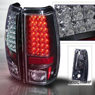 03 04 05 06 Chevy Silverado (except 3500) LED Tail Lights + Hi Power White LED Backup Lights   Black (Pair) Automotive