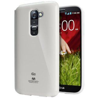 [White] Mercury Goospery LG G2 Case [Slim Fit Flexible TPU Jelly] Premium Rugged Anti Shock Protection   [Except Verizon] AT&T, Sprint, T Mobile, International, and Unlocked   Case for LG Optimus G2 D802 2013 Model Cell Phones & Accessories