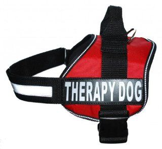 Therapy Dog Harness Service Working Vest Jacket Removable velcro Patches, Purchase comes with 2 THERAPY DOG reflective pathces  Pet Vest Harnesses