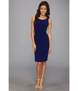 KAMALIKULTURE Sleeveless Shirred Waist Dress Womens Dress (Blue)