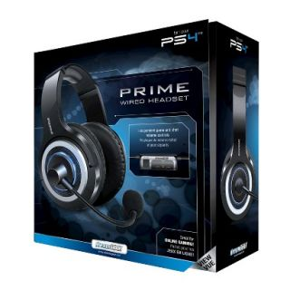 DreamGEAR Prime Wired Headset   Black (PlayStation 4)