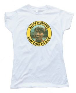 Womens AIN'T NOBODY GOT TIME FO DAT   MS BROWN   Tee Shirt Anvil Softstyle Clothing