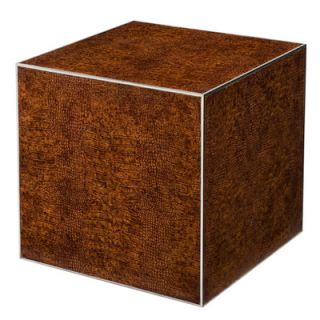 Theodore Alexander Crocodile Cube End Table