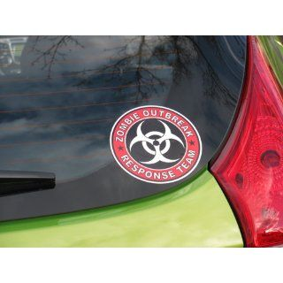 "Zombie Outbreak Response Team Cool Vinyl Decal Bumper Sticker (Decal Kingz) 5""x5"" Automotive"
