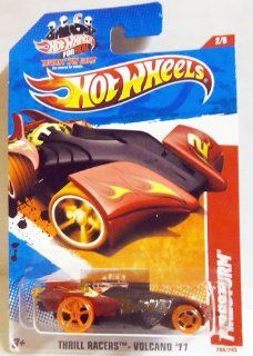 2011 Hot Wheels Black Red FIRESTORM #200/244, Thrill Racers Volcano '11 #2/6 Toys & Games
