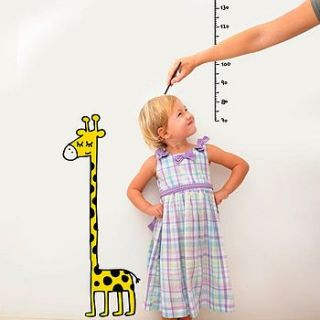 giraffe height chart wall sticker by potwells