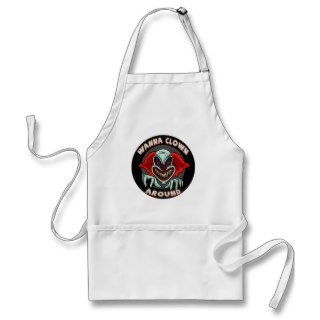 Evil Clown Biker T shirts Gifts Apron