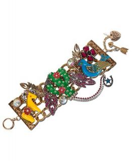 Betsey Johnson Gold Tone Cactus Charm Wide Toggle Bracelet   Fashion Jewelry   Jewelry & Watches