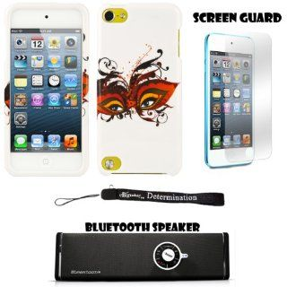 Masquerade Eyes 2 piece Cover Shield Protector Case For Apple iPod Touch 5 ( 5th Generation) 32GB, 64GB + Anti Glare Screen Protector Guard + Supertooth Disco Bluetooth Speaker with AUX Cable + an eBigValue TM Determination Hand Strap Cell Phones & Ac