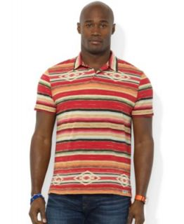 Polo Ralph Lauren Big and Tall Shirt, Short Sleeve Plaid Jersey Pocket Polo   Polos   Men