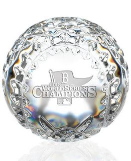Waterford 2013 World Series Boston Red Sox Commemorative Crystal Baseball
