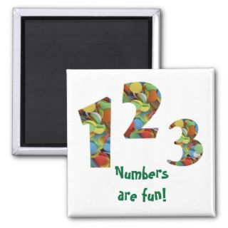Numbers are fun refrigerator magnets