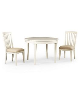 Sanibel Dining Room Furniture, 3 Piece Set (Round Table and 2 Side Chairs)   Furniture