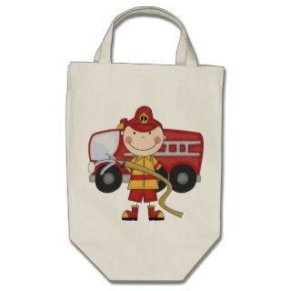 Male Firefighter T shirts and Gifts Canvas Bag
