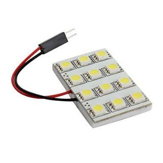 5050 SMD 12 LED 1.92W 228LM White Light Car Bulb (DC 12V)   Led Household Light Bulbs