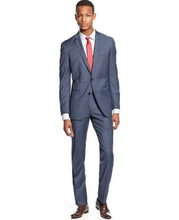 Bar III Suit Mid Blue Neat Slim Fit   Suits & Suit Separates   Men