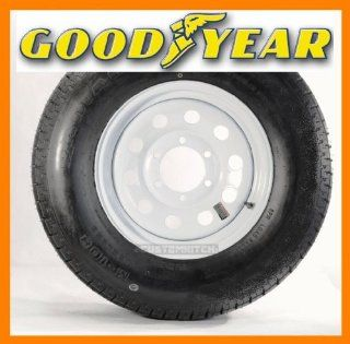Goodyear Marathon Trailer Tire + Rim ST225/75R15 225/75 15 15 Wheel White Mod Automotive