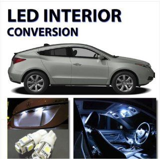 Xenon White AGT Interior LED Package Kit for Acura ZDX 2010 2012 (12pcs) Automotive