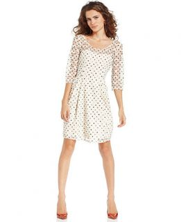 Betsey Johnson Illusion Lace Polka Dot Dress   Dresses   Women
