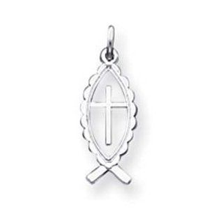 Sterling Silver Ichthus Fish Charm Jewelry