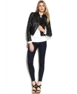 MICHAEL Michael Kors Leather Jacket, Dolman Sweater & Skinny Jeans   Women