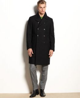 Kenneth Cole New York Coat, Egan Double Breasted Wool Blend Overcoat Slim Fit   Coats & Jackets   Men