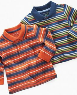 First Impressions Playwear Baby Shirt, Baby Boys Striped Polo Shirt   Kids