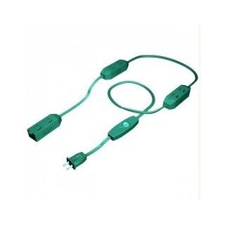 9' Westinghouse 9 Outlet Green Extension Cord with Safety Covers Electric Extension Cord With Central Plug