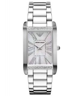 Emporio Armani Watch, Womens Diamond Accent Stainless Steel Bracelet 25mm AR3169   Watches   Jewelry & Watches