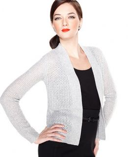 Charter Club Sweater, Long Sleeve Open Knit Cashmere Cardigan   Sweaters   Women