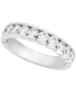 Diamond Ring, 14k White Gold Diamond Wedding Band (1/2 ct. t.w.)   Rings   Jewelry & Watches