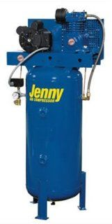 Jenny Compressors K2A 30V 208/3 2 HP 30 Gallon Tank 3 Phase 208 Volt, Vertical Electric Single Stage Stationary Compressor   Stacked Tank Air Compressors